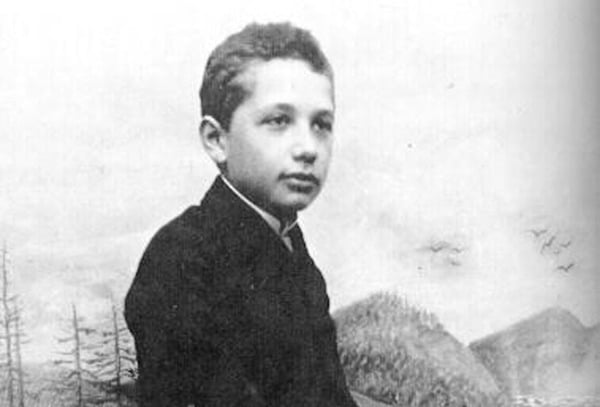Einstein was a slow learner as a child and spoke very slowly.