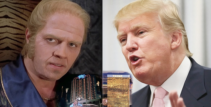 Biff Tannen from the Back to the Future trilogy was based on Donald Trump.